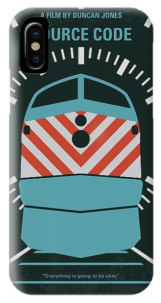 Chicago Art iPhone Case - No685 My Source Code Minimal Movie Poster by Chungkong Art