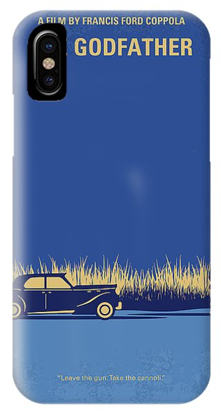 Chungkong iPhone Case - No686-1 My Godfather I Minimal Movie Poster by Chungkong Art