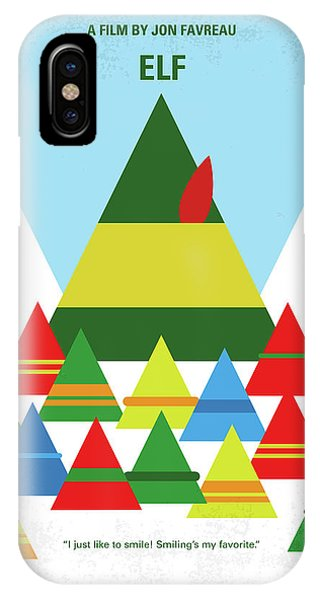 Elf iPhone X Case - No699 My Elf Minimal Movie Poster by Chungkong Art