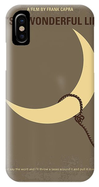 Moon iPhone Case - No700 My Its A Wonderful Life Minimal Movie Poster by Chungkong Art