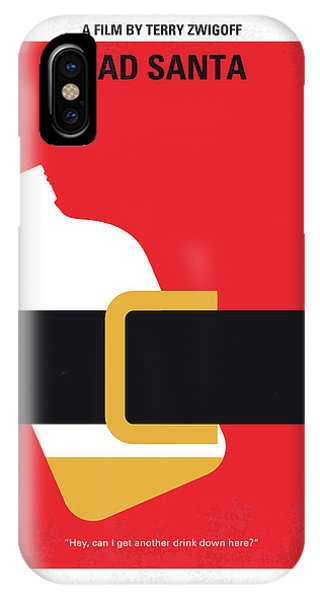 No702 My Bad Santa Minimal Movie Poster IPhone Case