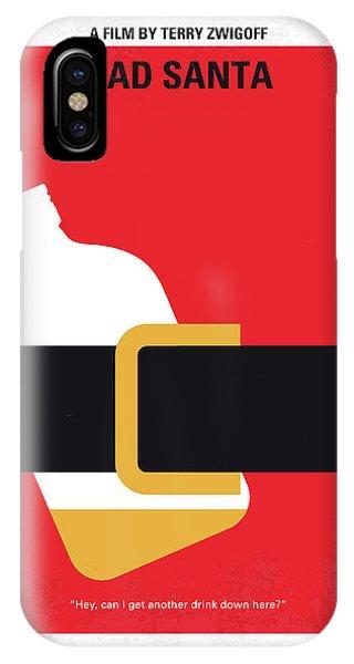 Holiday iPhone Case - No702 My Bad Santa Minimal Movie Poster by Chungkong Art