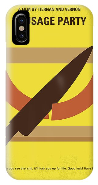 Celebration iPhone Case - No704 My Sausage Party Minimal Movie Poster by Chungkong Art