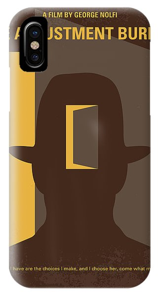 Election iPhone Case - No710 My The Adjustment Bureau Minimal Movie Poster by Chungkong Art
