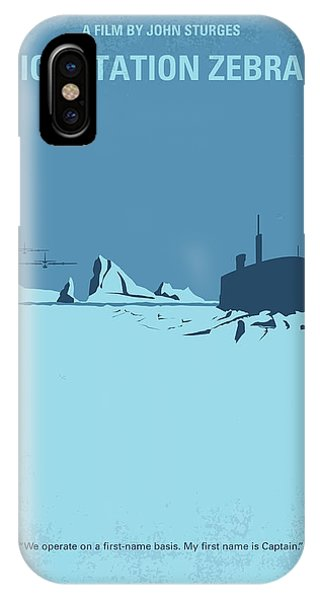 Ice iPhone Case - No711 My Ice Station Zebra Minimal Movie Poster by Chungkong Art