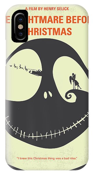 Pumpkin iPhone Case - No712 My The Nightmare Before Christmas Minimal Movie Poster by Chungkong Art
