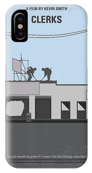 Hockey iPhone Case - No715 My Clerks Minimal Movie Poster by Chungkong Art