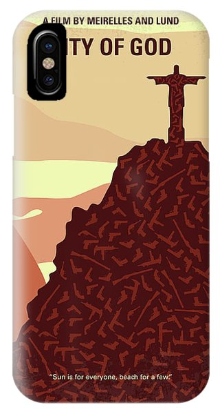 Brazil iPhone X Case - No716 My City Of God Minimal Movie Poster by Chungkong Art
