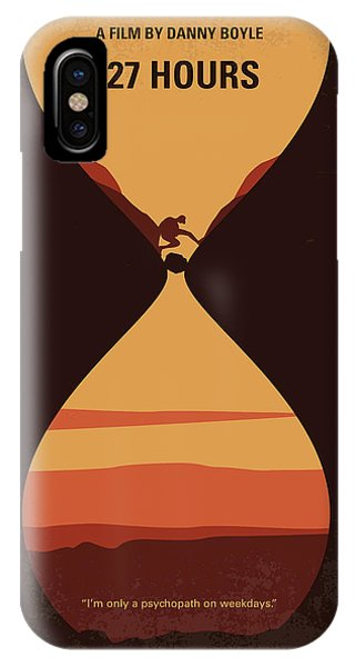 No719 My 127 Hours Minimal Movie Poster IPhone Case