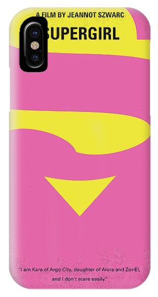 Superhero iPhone Case - No720 My Supergirl Minimal Movie Poster by Chungkong Art
