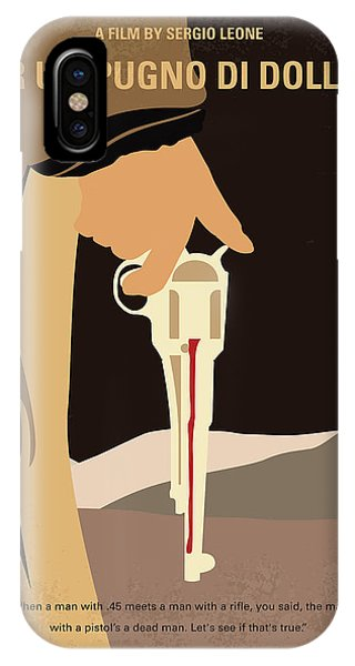 San Miguel iPhone Case - No721 My A Fistful Of Dollars Minimal Movie Poster by Chungkong Art