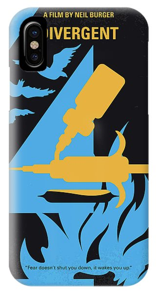 Chicago Art iPhone Case - No727 My Divergent Minimal Movie Poster by Chungkong Art