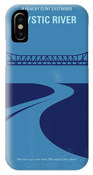 Bacon iPhone Case - No729 My Mystic River Minimal Movie Poster by Chungkong Art