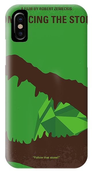 Colombian iPhone Case - No732 My Romancing The Stone Minimal Movie Poster by Chungkong Art
