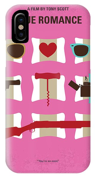 No736 My True Romance Minimal Movie Poster IPhone Case