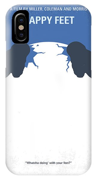 Penguin iPhone Case - No744 My Happy Feet Minimal Movie Poster by Chungkong Art