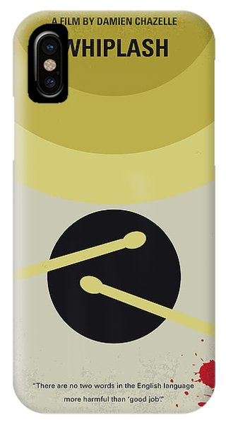 Drum iPhone Case - No761 My Whiplash Minimal Movie Poster by Chungkong Art