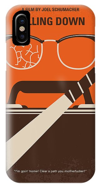 Bat iPhone Case - No768 My Falling Down Minimal Movie Poster by Chungkong Art