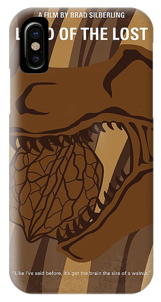 Dinosaur iPhone Case - No773 My Land Of The Lost Minimal Movie Poster by Chungkong Art