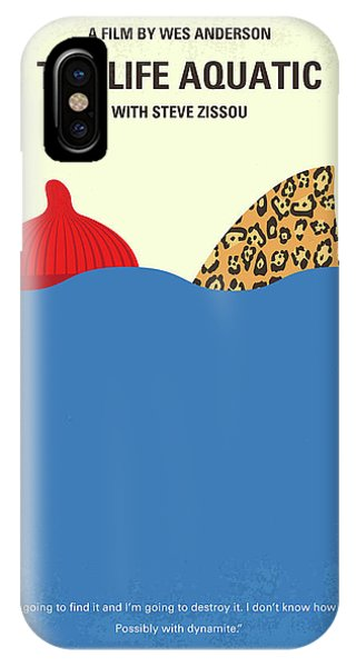 Aquatic iPhone Case - No774 My The Life Aquatic With Steve Zissou Minimal Movie Poster by Chungkong Art