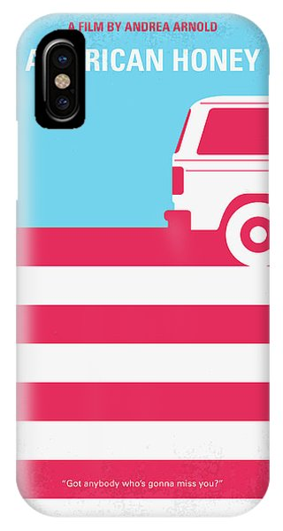 Midwest iPhone Case - No786 My American Honey Minimal Movie Poster by Chungkong Art