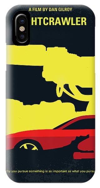 No794 My Nightcrawler Minimal Movie Poster IPhone Case