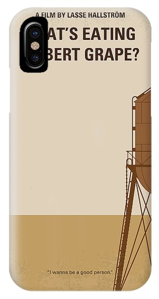 Fruit iPhone Case - No795 My Whats Eating Gilbert Grape Minimal Movie Poster by Chungkong Art