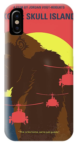 Helicopter iPhone X Case - No799 My Skull Island Minimal Movie Poster by Chungkong Art