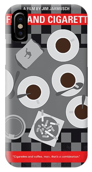 Staff iPhone Case - No808 My Coffee And Cigarettes Minimal Movie Poster by Chungkong Art