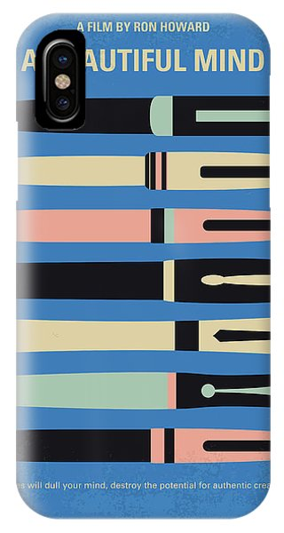 Nobel iPhone Case - No809 My A Beautiful Mind Minimal Movie Poster by Chungkong Art