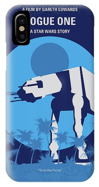 One iPhone Case - No819 My Rogue One Minimal Movie Poster by Chungkong Art