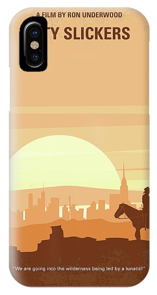 No821 My City Slickers Minimal Movie Poster IPhone Case