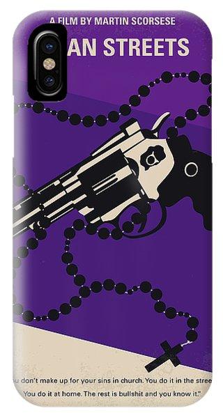 Robert De Niro iPhone Case - No823 My Mean Streets Minimal Movie Poster by Chungkong Art