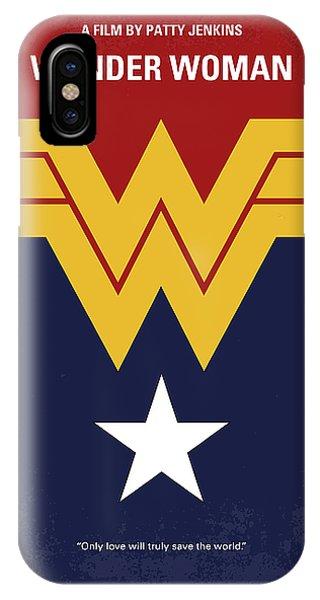 Superhero iPhone Case - No825 My Wonder Woman Minimal Movie Poster by Chungkong Art
