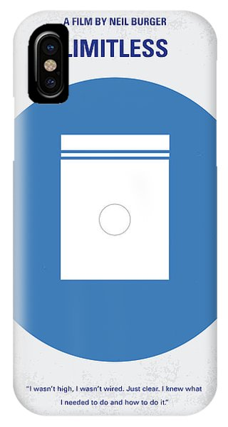 Wizard iPhone X / XS Case - No828 My Limitless Minimal Movie Poster by Chungkong Art