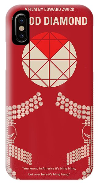 Diamond iPhone Case - No833 My Blood Diamond Minimal Movie Poster by Chungkong Art