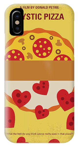Working iPhone Case - No846 My Mystic Pizza Minimal Movie Poster by Chungkong Art