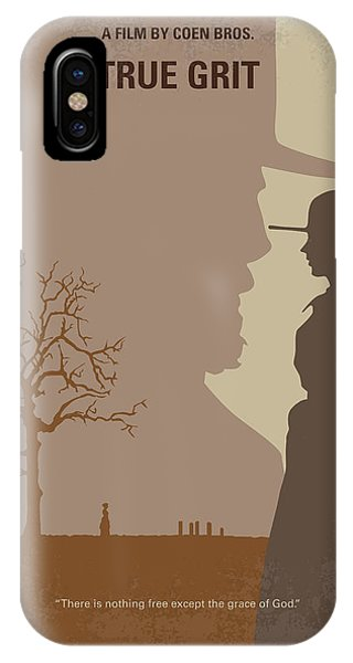 University iPhone Case - No860 My True Grit Minimal Movie Poster by Chungkong Art