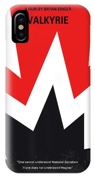 Army iPhone Case - No876 My Valkyrie Minimal Movie Poster by Chungkong Art