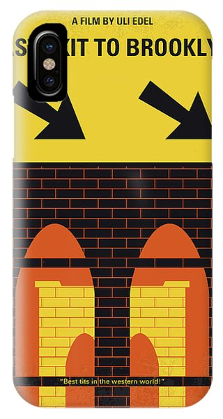 1950s iPhone Case - No879 My Last Exit To Brooklyn Minimal Movie Poster by Chungkong Art
