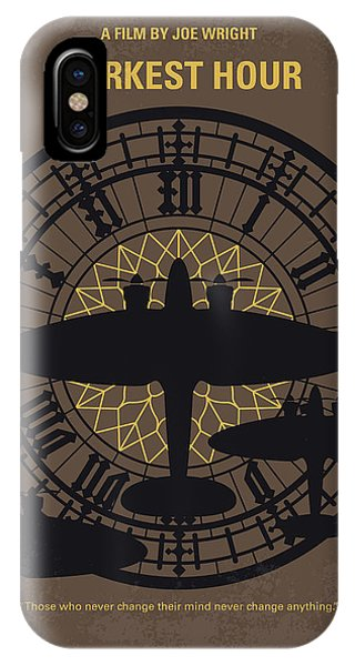 Prime Minister iPhone Case - No901 My Darkest Hour Minimal Movie Poster by Chungkong Art