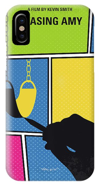 Comic iPhone Case - No910 My Chasing Amy Minimal Movie Poster by Chungkong Art