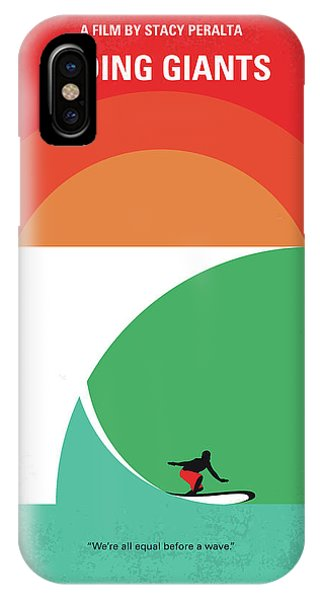 Surf iPhone Case - No915 My Riding Giants Minimal Movie Poster by Chungkong Art