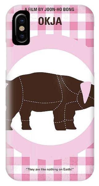 Beast iPhone Case - No921 My Okja Minimal Movie Poster by Chungkong Art