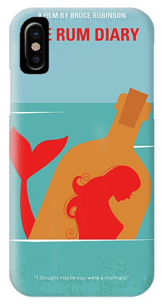 Liquor iPhone Case - No925 My The Rum Diary Minimal Movie Poster by Chungkong Art