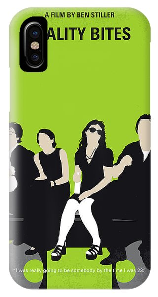 Mtv iPhone Case - No938 My Reality Bites Minimal Movie Poster by Chungkong Art