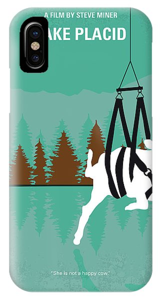 Crocodile iPhone Case - No944 My Lake Placid Minimal Movie Poster by Chungkong Art