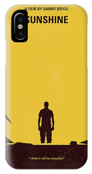 Astronaut iPhone Case - No947 My Sunshine Minimal Movie Poster by Chungkong Art