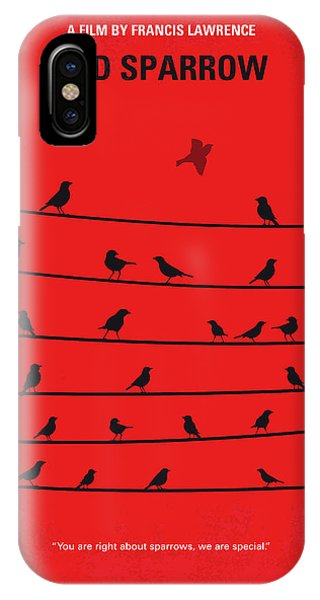 Sparrow iPhone Case - No960 My Red Sparrow Minimal Movie Poster by Chungkong Art