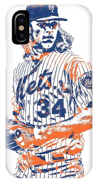 New York Mets iPhone Case - Noah Syndergaard New York Mets Pixel Art 1 by Joe Hamilton